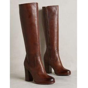 Frye Parker Tall Brown Heeled Boots Size 6